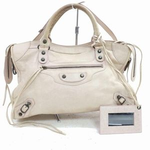 Balenciaga Cream Leather The City 2way 870519